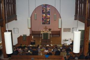 Gottesdienst in der Wolfbuschkirche