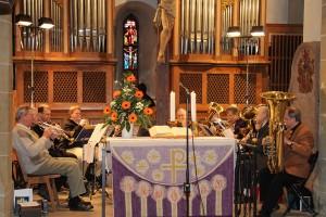 Der Posaunenchor in der Oswaldkirche