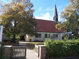 der Kindergarten ist in die Wolfbuschkirche integriert